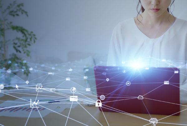 Foto che mostra connessioni digitali