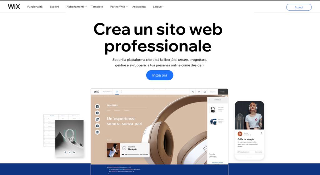 WIX piattaforma per creare blog