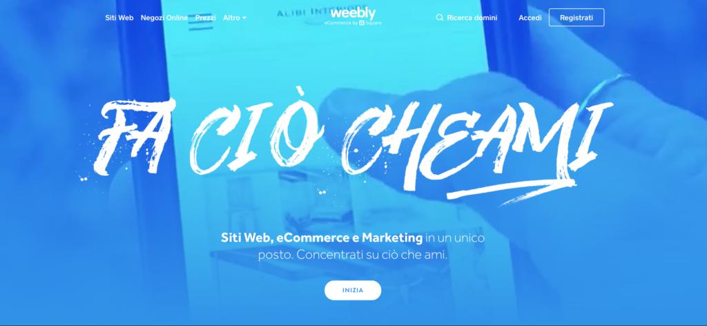 Weebly piattaforma per blog