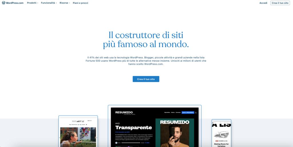 WordPress piattaforma per creare blog