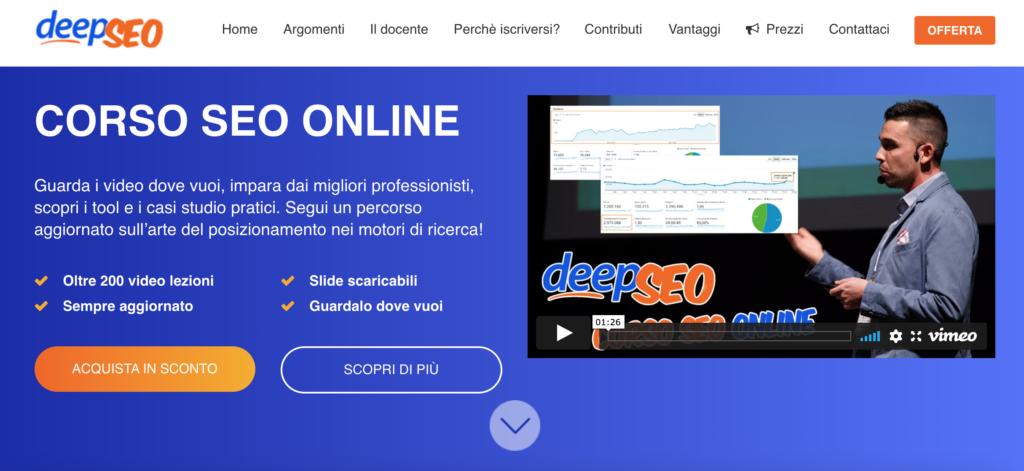 DeepSEO - corso SEO online