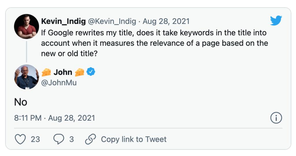 Tweet google titoli
